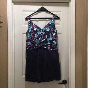 Size 22w underwire swimdress